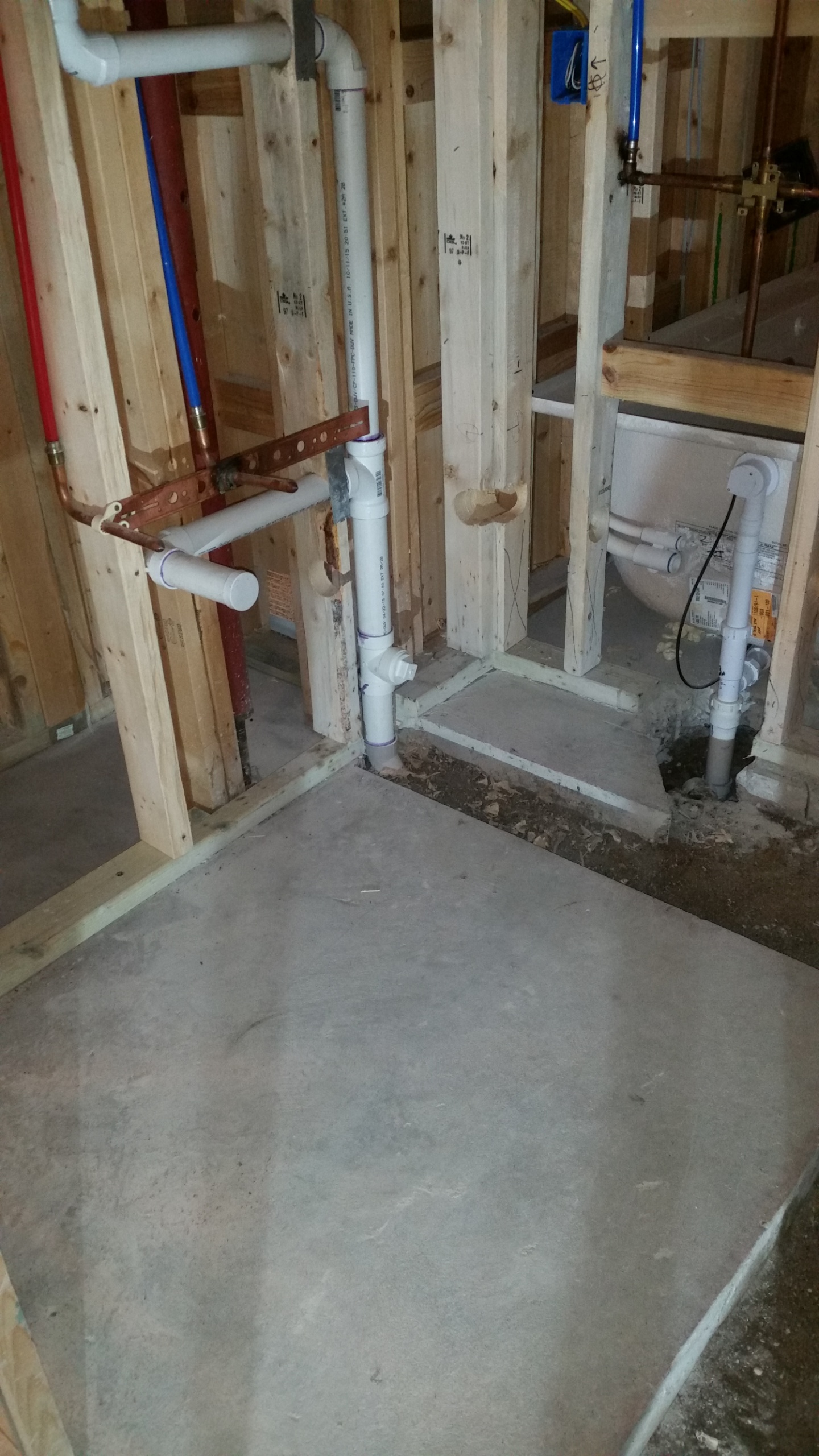 Plumbing services in new home
