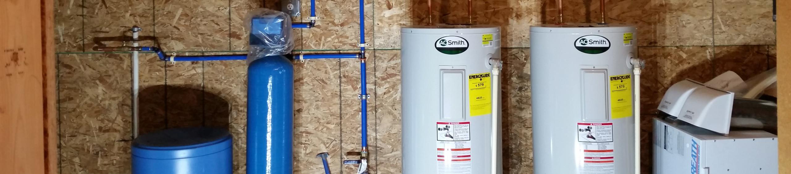 Water heaters and water softeners
